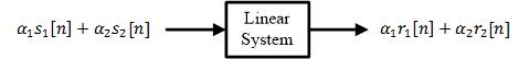 A linear system with scaled input and output