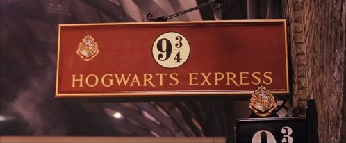 Platform 9 3/4 is the entry to an imaginary world